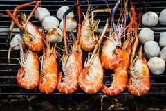 ψημένες στη σχάρα γαρίδες Στοκ φωτογραφία με δικαίωμα ελεύθερης χρήσης