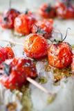 ψημένες στη σχάρα ντομάτες στοκ εικόνα