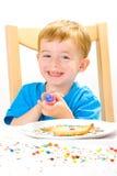 ψημένη διακόσμηση αγοριών μπισκότων Στοκ Φωτογραφίες
