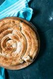 Ψημένη ελληνική πίτα τυριών Στοκ Εικόνες