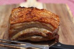 Ψημένη κοιλιά χοιρινού κρέατος Στοκ εικόνες με δικαίωμα ελεύθερης χρήσης