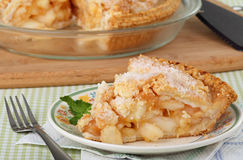 ψημένη μήλο πίτα Στοκ Εικόνα