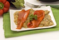 ψημένη πιπέρι σαλάτα ισπανικ στοκ εικόνα με δικαίωμα ελεύθερης χρήσης