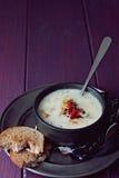 Ψημένη σούπα πατατών σκόρδου Στοκ Εικόνα