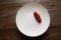 Ψημένη στη σχάρα γαστρονομία κουζίνας χταποδιών σύγχρονη στοκ φωτογραφίες