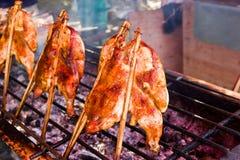 ψημένη στη σχάρα κοτόπουλο φρυγανιέρα Στοκ εικόνα με δικαίωμα ελεύθερης χρήσης