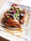 ψημένη στη σχάρα κοτόπουλο Στοκ Εικόνες