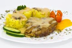 Ψημένη στη σχάρα μπριζόλα χοιρινού κρέατος Στοκ εικόνα με δικαίωμα ελεύθερης χρήσης