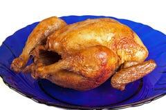 ψημένη στη σχάρα πιάτο κότα Στοκ Εικόνα