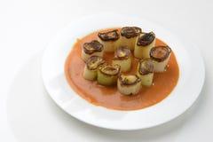 Ψημένη στη σχάρα πράσο σάλτσα mojo picon Στοκ Εικόνες