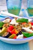 Ψημένη στη σχάρα σαλάτα μελιτζάνας στοκ εικόνα με δικαίωμα ελεύθερης χρήσης