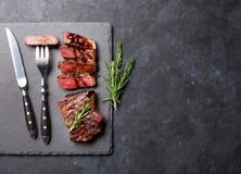 Ψημένη στη σχάρα τεμαχισμένη μπριζόλα βόειου κρέατος Στοκ Φωτογραφίες