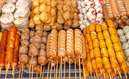 ψημένη στη σχάρα τρόφιμα οδός Στοκ Εικόνες
