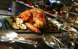 Ψημένη Τουρκία για την ημέρα των ευχαριστιών και τα Χριστούγεννα Στοκ Εικόνες