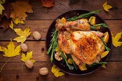 ψημένη Τουρκία Ημέρα των ευχαριστιών στοκ εικόνες