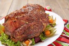 Ψημένος λαιμός χοιρινού κρέατος στοκ εικόνες