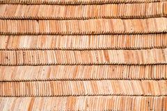 Ψημένος κεραμίδι άργιλος φύλλων για την ταϊλανδική στέγη ναών Στοκ Εικόνες