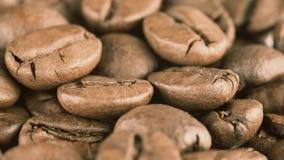Ψημένος μακρο πυροβολισμός φασολιών καφέ φιλμ μικρού μήκους