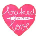 Ψημένος με την αγάπη ελεύθερη απεικόνιση δικαιώματος