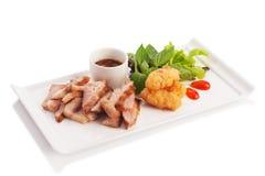 Ψημένος ξυλάνθρακας λαιμός χοιρινού κρέατος Στοκ εικόνα με δικαίωμα ελεύθερης χρήσης