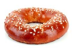Ψημένος ρόλος ψωμιού που απομονώνεται Στοκ Εικόνα