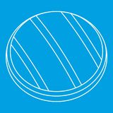 Ψημένος στη σχάρα γύρω από την περίληψη εικονιδίων μπριζόλας βόειου κρέατος Στοκ φωτογραφία με δικαίωμα ελεύθερης χρήσης