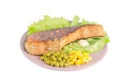ψημένος στη σχάρα πιάτο σο&lambda Στοκ εικόνα με δικαίωμα ελεύθερης χρήσης