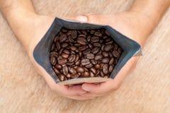 Ψημένος Arabica καφές Στοκ Φωτογραφία