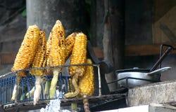 ψημένο καλαμπόκι elotes στοκ φωτογραφία