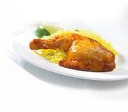 ψημένο κοτόπουλο φτερό Στοκ Εικόνα