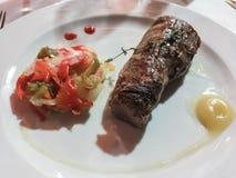 Ψημένο κόντρα φιλέτο βόειου κρέατος Στοκ φωτογραφίες με δικαίωμα ελεύθερης χρήσης