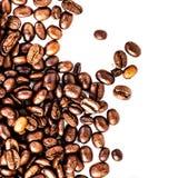Ψημένο μακρο υπόβαθρο καφέ. Arabica υπόβαθρο φασολιών καφέ Στοκ Φωτογραφία