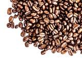 Ψημένο μακρο υπόβαθρο καφέ. Arabica υπόβαθρο φασολιών καφέ Στοκ εικόνα με δικαίωμα ελεύθερης χρήσης