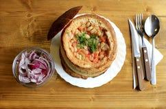 ψημένο πιάτο φασολιών αγρ&omicron Στοκ Εικόνες