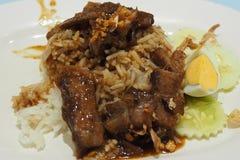 Ψημένο ρύζι χοιρινού κρέατος Στοκ Φωτογραφία