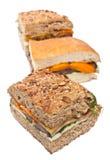 Ψημένο σάντουιτς μελιτζάνας και πιπεριών Στοκ Εικόνα