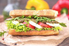 Ψημένο σάντουιτς Caprese Στοκ Φωτογραφίες