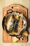 Ψημένο σκουμπρί ψαριών Στοκ Εικόνες
