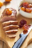 Ψημένο στήθος παπιών στη σάλτσα εσπεριδοειδών Στοκ φωτογραφία με δικαίωμα ελεύθερης χρήσης