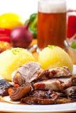 Ψημένο στη σχάρα βαυαρικό κρέας χοιρινού κρέατος Στοκ Φωτογραφία