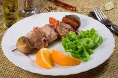 ψημένο στη σχάρα βόειο κρέας κρέας στοκ φωτογραφία