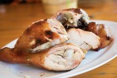 ψημένο στη σχάρα κοτόπουλο πιάτο Στοκ Φωτογραφία