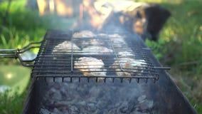 Ψημένο στη σχάρα κοτόπουλο στη σχάρα φιλμ μικρού μήκους