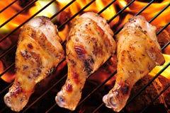 Ψημένο στη σχάρα κοτόπουλο Στοκ εικόνα με δικαίωμα ελεύθερης χρήσης