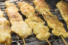 ψημένο στη σχάρα κοτόπουλο κρέας στοκ εικόνα