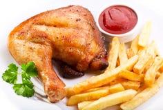 ψημένο στη σχάρα κοτόπουλ&omic Στοκ Εικόνα