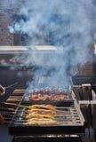 Ψημένο στη σχάρα κρέας και κρέας στη ζύμη Στοκ Φωτογραφία