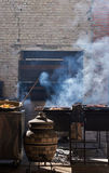 Ψημένο στη σχάρα κρέας και κρέας στη ζύμη Στοκ Εικόνες