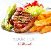 Ψημένη στη σχάρα μπριζόλα βόειου κρέατος Στοκ εικόνα με δικαίωμα ελεύθερης χρήσης