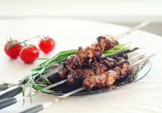 Ψημένο στη σχάρα κρέας χοιρινού κρέατος Στοκ εικόνα με δικαίωμα ελεύθερης χρήσης